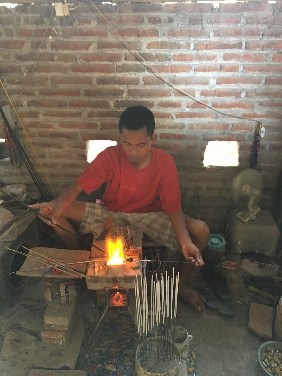 Java Indonesia Lampwork glass beads factory
