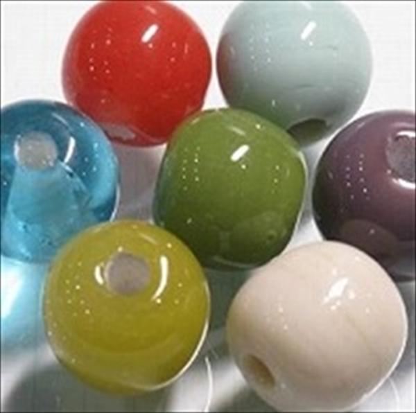 丸型単色とんぼ玉ビーズ10mm~20mm