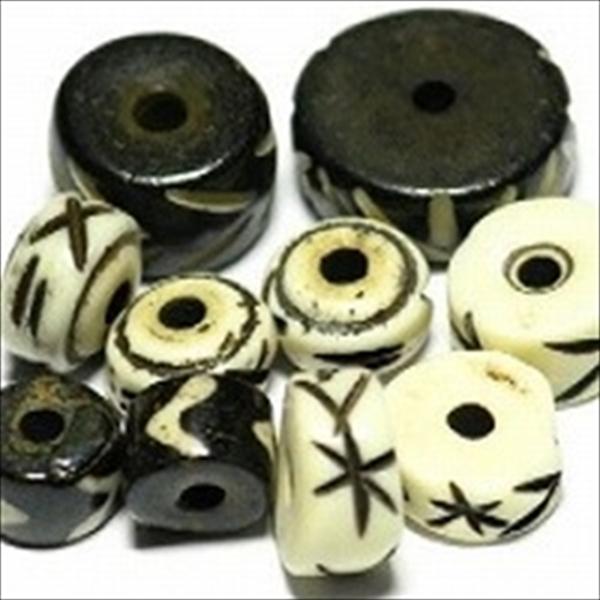 インドの筒形(チューブ型)直径7mm~8mm程度,のビーズです