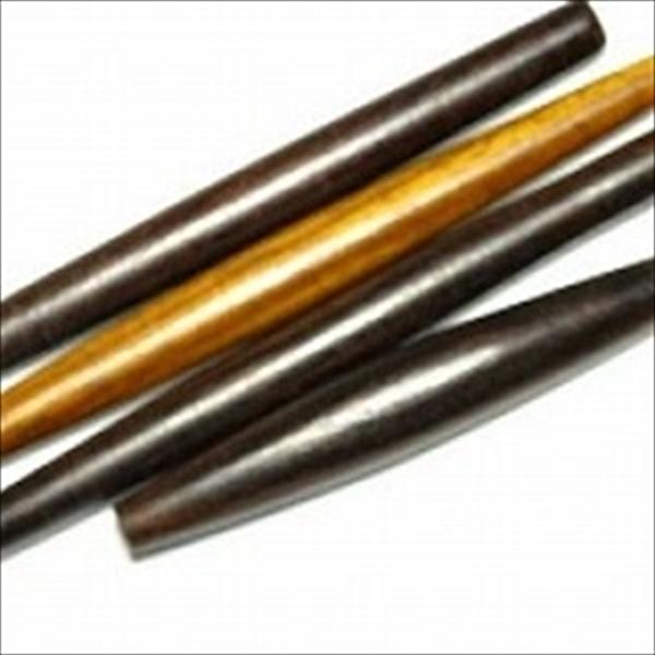 インドネシア・ジャワの長尺ウッドビーズです。硬い素材を使った高級品です。年代は不詳です。